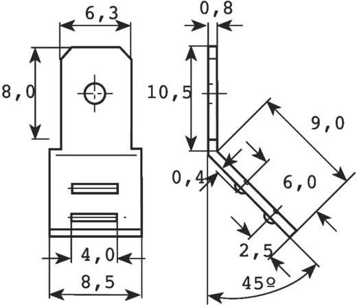 Vogt Verbindungstechnik 38412SBS.80 Plug-tong Insteekbreedte: 6.3 mm Insteekdikte: 0.8 mm 45 ° Ongeïsoleerd Metaal 1 st