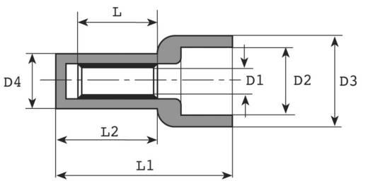 Eindconnector 0.5 mm² Volledig geïsoleerd Transparant Vogt Verbindungstechnik 4803 1 stuks