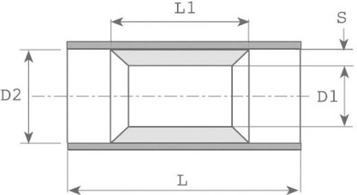 Doorverbinder 0.50 mm² 1 mm² Volledig geïsoleerd Rood Vogt Verbindungstechnik 3715 1 stuks