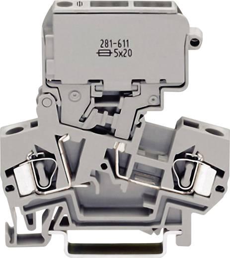 Zekeringsklem 8 mm Veerklem Toewijzing: L Grijs WAGO 281-611 1 stuks