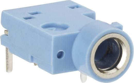 BKL Electronic 1109052 Jackplug 3.5 mm Bus, inbouw horizontaal Aantal polen: 3 Stereo Blauw 1 stuks