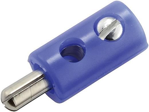 Miniatuur banaanstekker Stekker, recht Stift-Ø: 2.6 mm Blauw 1 stuks