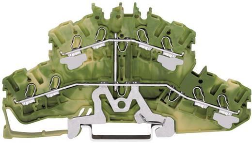 Doorgangsklem 2-etages 5.20 mm Veerklem Toewijzing: Terre Groen-geel WAGO 2002-2407 1 stuks