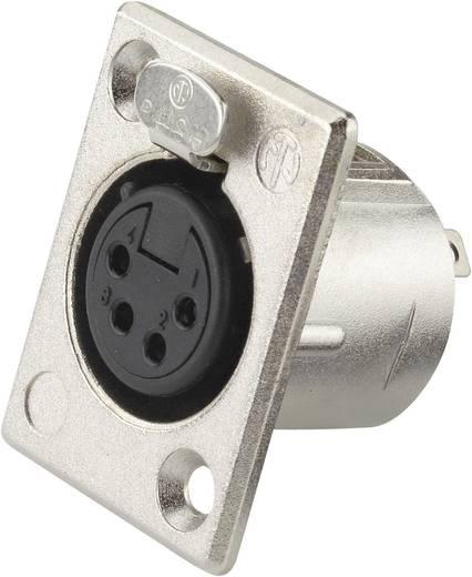 Neutrik NC4FP1 XLR-connector Flensbus, contacten recht Aantal polen: 4 Zilver 1 stuks