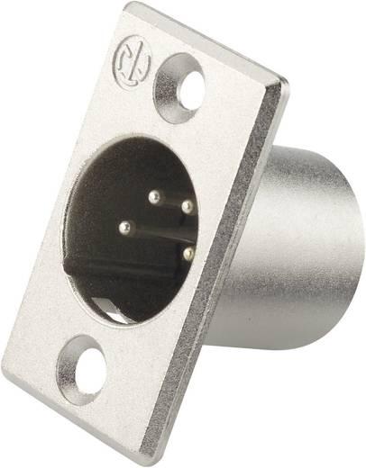 XLR-connector Flensstekker, contacten recht Neutrik NC4MP Aantal polen: 4