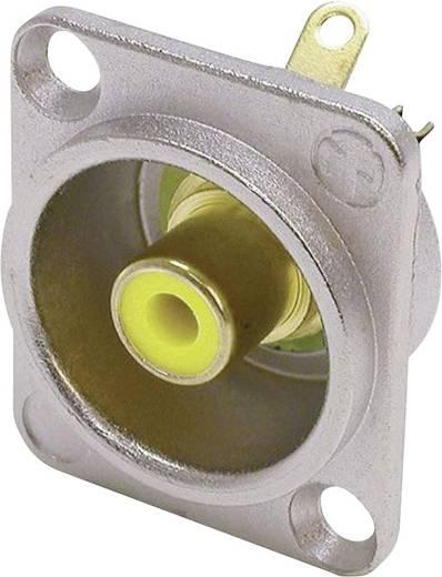 Neutrik NF2D4 Cinch-connector Flensbus, contacten recht Aantal polen: 2 Zilver, Geel 1 stuks