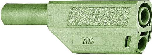 MultiContact SLS425-SE/Q/N Lamellenstekker Stekker, recht Stift-Ø: 4 mm Groen 1 stuks