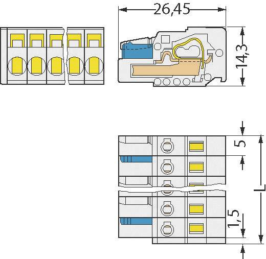 Busbehuizing-kabel 721 Totaal aantal polen 2 WAGO 721-102/026-000 Rastermaat: 5 mm 1 stuks