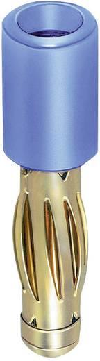 Stäubli R4/2-A Overgangsstekker Stekker 4 mm - Bus 2 mm Blauw 1 stuks