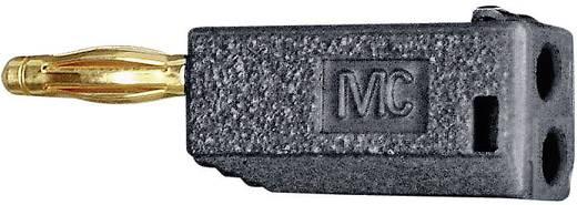 MultiContact SLS425-AM Lamellenstekker Stekker, recht Stift-Ø: 4 mm Zwart 1 stuks