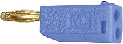 MultiContact SLS205-A Lamellenstekker Stekker, recht Stift-Ø: 2 mm Blauw 1 stuks