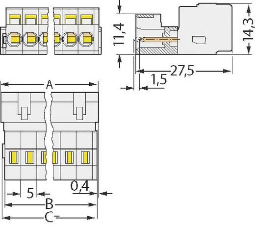 WAGO 721-602 Busbehuizing-board 721 Totaal aantal polen 2 Rastermaat: 5 mm 1 stuks