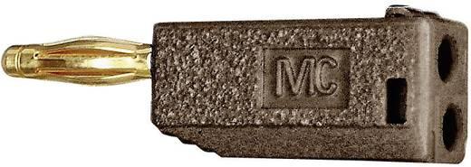 MultiContact 731555 Lamellenstekker Stekker, recht Stift-Ø: 2 mm Bruin 1 stuks