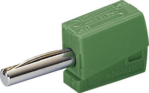 WAGO 215-411 Banaanstekker Stekker, recht Stift-Ø: 4 mm Groen 1 stuks