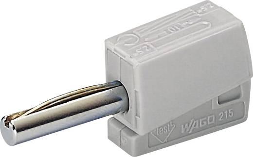 WAGO 215-811 Banaanstekker Stekker, recht Stift-Ø: 4 mm Grijs 1 stuks