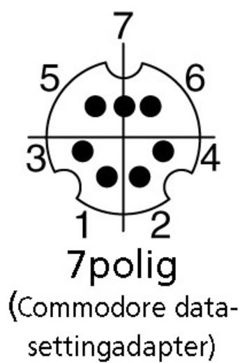 BKL Electronic 204005 Miniatuur DIN-connector Stekker, recht Aantal polen: 7 Zwart 1 stuks