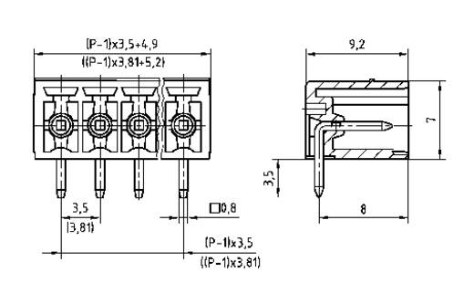 Penbehuizing-board STL(Z)1550 Totaal aantal polen 10 PTR 51550105025D Rastermaat: 3.81 mm 1 stuks