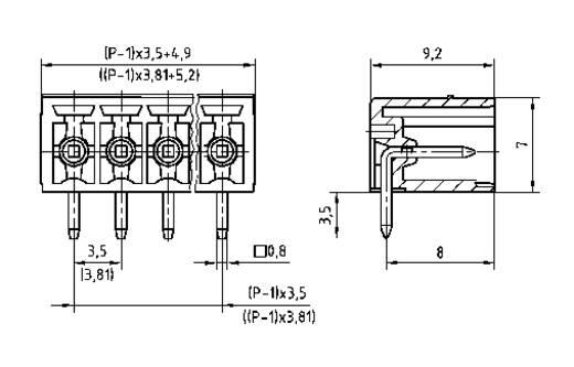 PTR 51550045001F Penbehuizing-board STL(Z)1550 Totaal aantal polen 4 Rastermaat: 3.50 mm 1 stuks