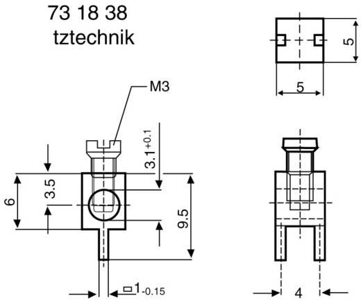 Enkelcontact 2.5 mm² Aantal polen 1 360410 Zilver 1 stuks
