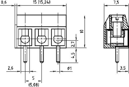 Klemschroefblok 1.50 mm² Aantal polen 12 AKZ500/12DS-5.08-V PTR Grijs 1 stuks