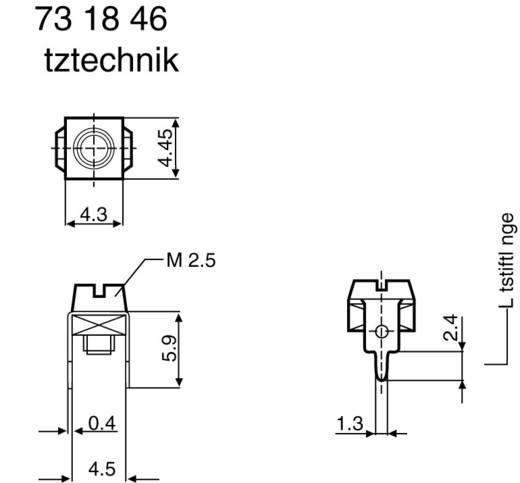 Enkelcontact 2.5 mm² Aantal polen 1 750122 Zilver 1 stuks