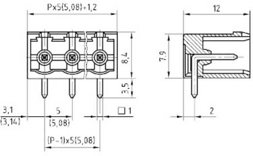 Penbehuizing-board STL(Z)950 Totaal aantal polen 4 PTR 50950045021F Rastermaat: 5.08 mm 1 stuks