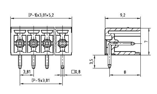 Penbehuizing-board STL(Z)1550 Totaal aantal polen 8 PTR 51550085235D Rastermaat: 3.81 mm 1 stuks
