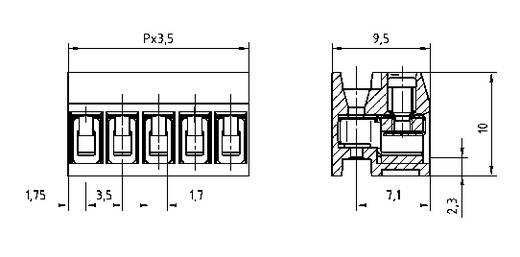 Klemschroefblok 1.50 mm² Aantal polen 2 AK1350/2DS-3.5 PTR Grijs 1 stuks