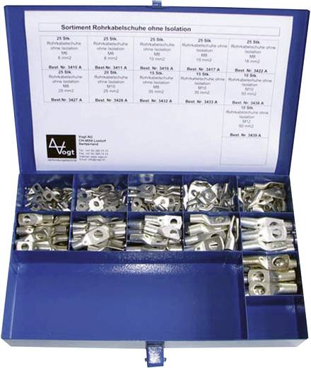 Vogt Verbindungstechnik 732455 Kabelschoen-assortiment 6 mm² 50 mm² Metaal 220 stuks