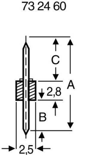 Male header (standaard) Aantal rijen: 1 Aantal polen per rij: 3 BKL Electronic 10120500 1 stuks