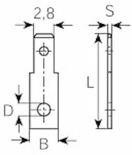 Vogt Verbindungstechnik 37701.67 Plug-tong Insteekbreedte: 2.8 mm Insteekdikte: 0.8 mm 180 ° Ongeïsoleerd Metaal 1 stuk