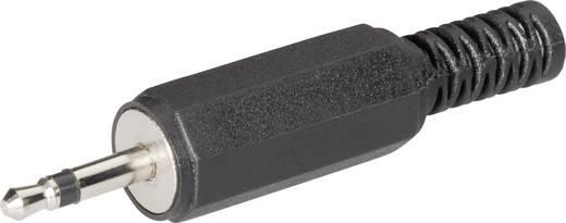 BKL Electronic 72117 Jackplug 2.5 mm Stekker, recht Aantal polen: 2 Mono Zwart 1 stuks