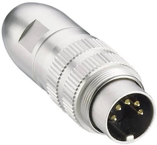 Lumberg 0332 04 DIN-connector Stekker, recht Aantal polen: 4 Zilver 1 stuks
