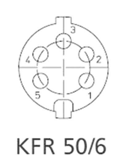 Lumberg KFR 50/6 DIN-connector Bus, inbouw verticaal Aantal polen: 5 Zilver 1 stuks