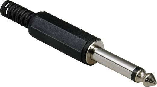 BKL Electronic 1107001 Jackplug 6.35 mm Stekker, recht Aantal polen: 2 Mono Zwart 1 stuks
