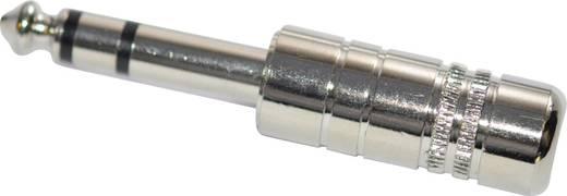 Jackplug 6.35 mm Stekker, recht Aantal polen: 3 Stereo Zilver 1 stuks