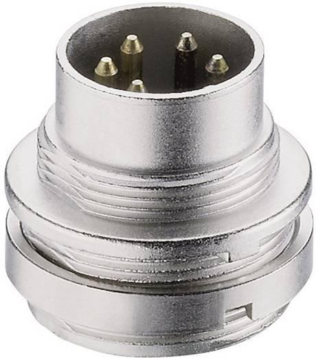 Lumberg SFV 40 DIN-connector Stekker, inbouw verticaal Aantal polen: 4 Zilver 1 stuks