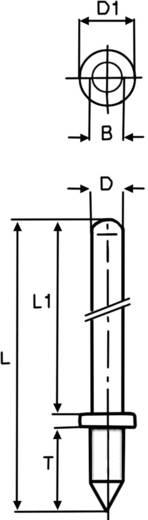 Vogt Verbindungstechnik 1364k.68 Stekkerpen Contactoppervlakte Vertind 100 stuks