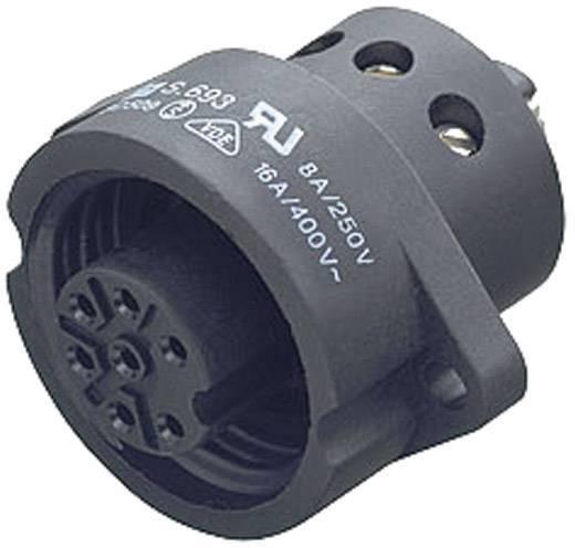 Standaard ronde stekkerverbinding serie 693 Aantal polen: 6 + PE Flensstekker 10 A 09-4228-00-07 Binder 1 stuks