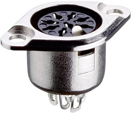 Lumberg 0103 06 DIN-connector Flensbus, contacten recht Aantal polen: 6 Zilver 1 stuks
