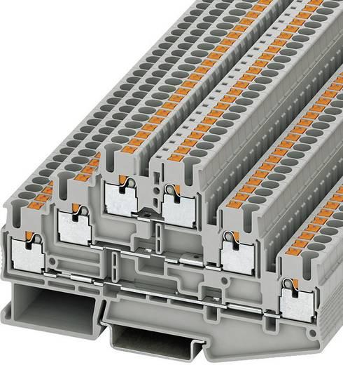 Phoenix Contact PIT 2,5-3L Push-In drielaagse klem PIT Grijs Inhoud: 1 stuks