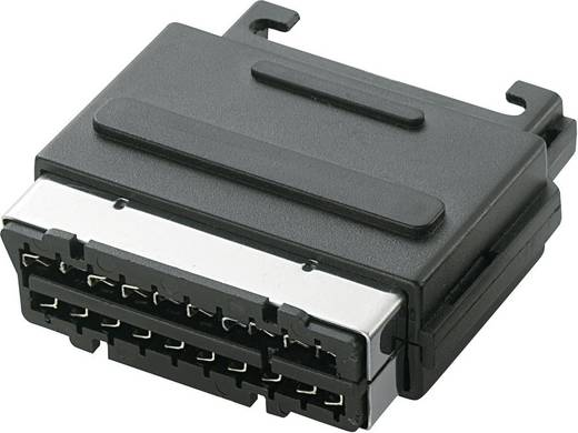 SCART-connector Stekker, inbouw verticaal Aantal polen: 21 Zwart 1 stuks