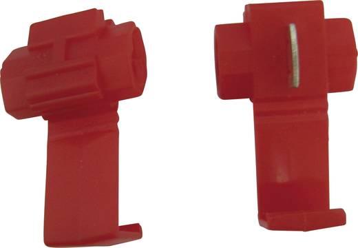 Snelklemverbinder Flexibel: 0.5-0.75 mm² Massief: 0.5-0.75 mm² Aantal polen: 2 5 stuks Rood