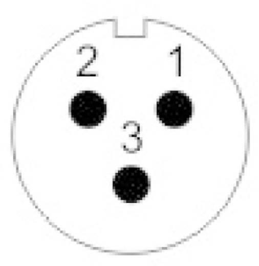 IP68-connector serie SP13 Aantal polen: 3 Apparaatstekker voor frontmontage 13 A SP1312 / P 3 Weipu 1 stuks