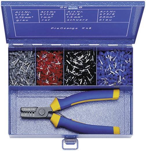 Klauke SK45B Adereindhuls assortiment 0.75 mm² 2.5 mm² Grijs, Rood, Zwart, Blauw 1100 stuks