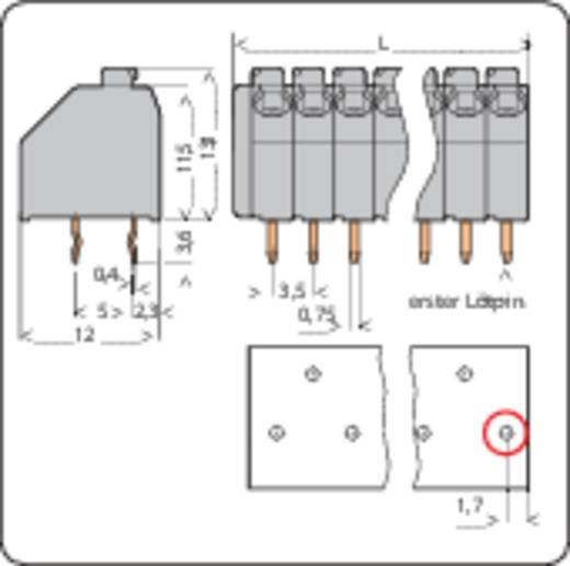 Veerkachtklemblok 1.50 mm² Aantal polen 7 250-207 WAGO Grijs 1 stuks