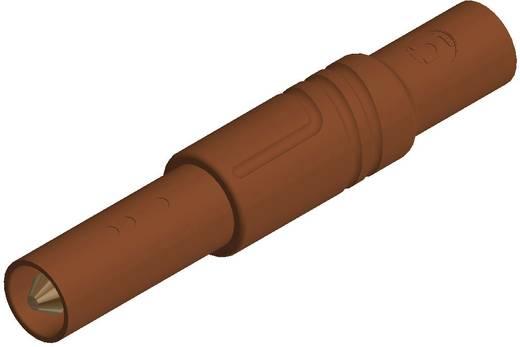 SKS Hirschmann LAS S G Veiligheids-lamelstekker, male Stekker, recht Stift-Ø: 4 mm Bruin 1 stuks