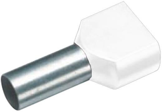 Cimco 18 2460 Dubbele adereindhuls 2 x 0.50 mm² x 8 mm Deels geïsoleerd Wit 100 stuks