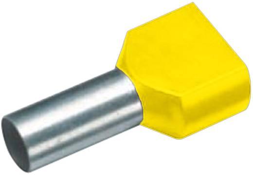 Cimco 18 2436 Dubbele adereindhuls 2 x 1 mm² x 8 mm Deels geïsoleerd Geel 100 stuks