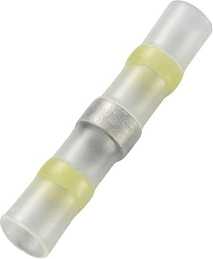 Stootverbinder Met krimpkous 4 mm² 6 mm² Volledig geïsoleerd Geel Conrad Components JFST-4-Y/15S 15 stuks